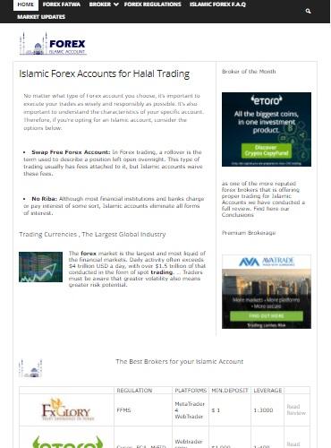 Forex islamitische accounts