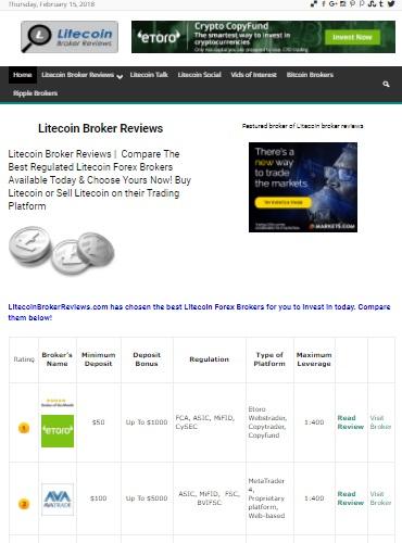 litecoin broker reviews