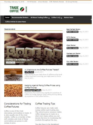 trade cofee online