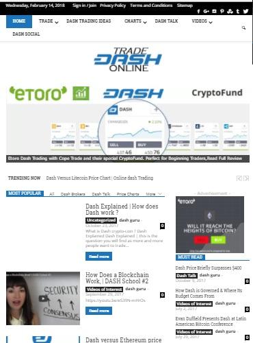handel dash online